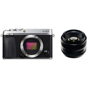 Fujifilm X-E3 Mirrorless Digital Camera (Silver) with XF 35mm f/1.4 R Lens