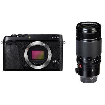 Fujifilm X-E3 Mirrorless Digital Camera (Black) with XF 50-140mm f/2.8 R LM OIS WR Lens