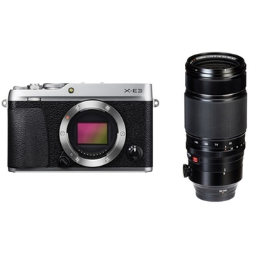 Fujifilm X-E3 Mirrorless Digital Camera (Silver) with XF 50-140mm f/2.8 R LM OIS WR Lens