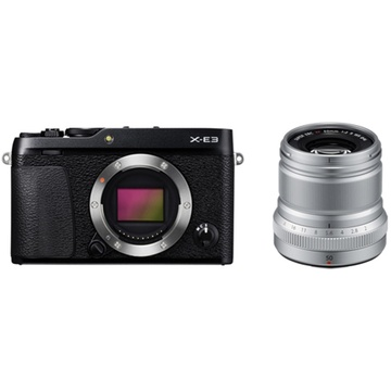Fujifilm X-E3 Mirrorless Digital Camera (Black) with XF 50mm f/2 R WR Lens (Silver)