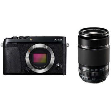 Fujifilm X-E3 Mirrorless Digital Camera (Black) with XF 55-200mm f/3.5-4.8 R LM OIS Lens