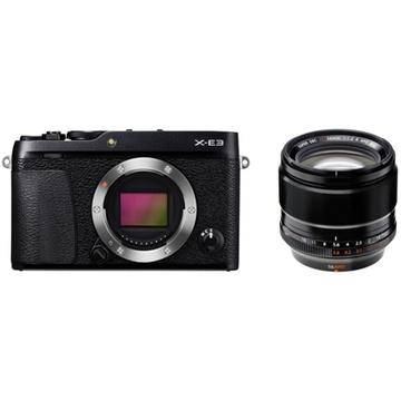 Fujifilm X-E3 Mirrorless Digital Camera (Black) with XF 56mm f/1.2 R APD Lens