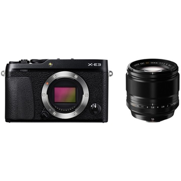 Fujifilm X-E3 Mirrorless Digital Camera (Black) with XF 56mm f/1.2 R Lens