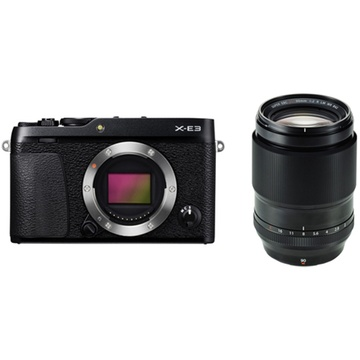 Fujifilm X-E3 Mirrorless Digital Camera (Black) with XF 90mm f/2 R LM WR Lens