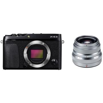Fujifilm X-E3 Mirrorless Digital Camera (Black) with XF 35mm f/2 R WR Lens (Silver)
