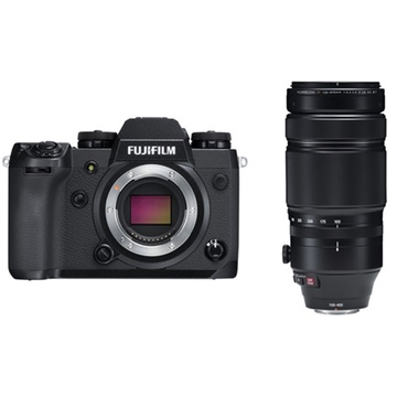 Fujifilm X-H1 Mirrorless Digital Camera with XF 100-400mm f/4.5-5.6 R LM OIS WR Lens