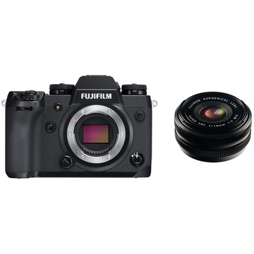Fujifilm X-H1 Mirrorless Digital Camera with XF 18mm f/2.0 R Lens