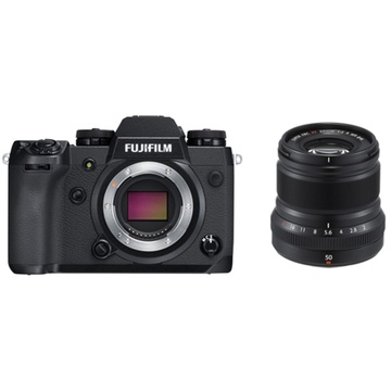 Fujifilm X-H1 Mirrorless Digital Camera with XF 50mm f/2 R WR Lens (Black)