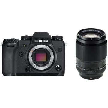Fujifilm X-H1 Mirrorless Digital Camera with XF 90mm f/2 R LM WR Lens