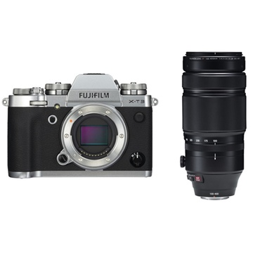 Fujifilm X-T3 Mirrorless Digital Camera (Silver) with XF 100-400mm f/4.5-5.6 R LM OIS WR Lens