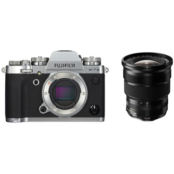 Fujifilm X-T3 Mirrorless Digital Camera (Silver) with XF 10-24mm f/4 R OIS Lens
