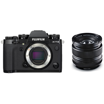 Fujifilm X-T3 Mirrorless Digital Camera (Black) with XF 14mm f/2.8 R Ultra Wide-Angle Lens