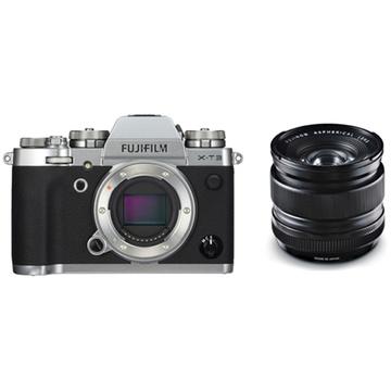Fujifilm X-T3 Mirrorless Digital Camera (Silver) with XF 14mm f/2.8 R Ultra Wide-Angle Lens