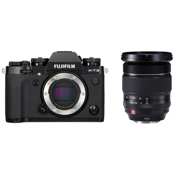 Fujifilm X-T3 Mirrorless Digital Camera (Black) with XF 16-55mm f/2.8 R LM WR Lens