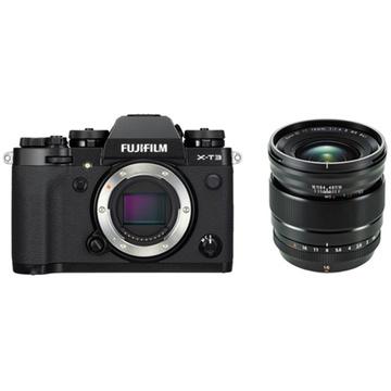 Fujifilm X-T3 Mirrorless Digital Camera (Black) with XF 16mm f/1.4 R WR Lens