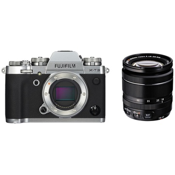 Fujifilm X-T3 Mirrorless Digital Camera (Silver) with XF 18-55mm f/2.8-4 R LM OIS Zoom Lens