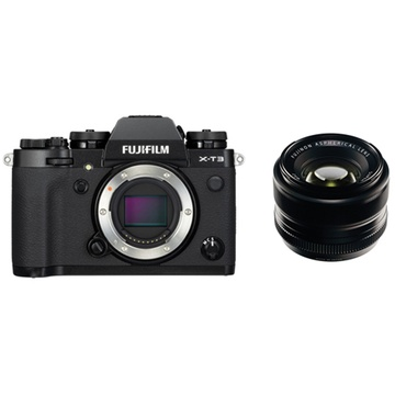Fujifilm X-T3 Mirrorless Digital Camera (Black) with XF 35mm f/1.4 R Lens