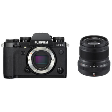 Fujifilm X-T3 Mirrorless Digital Camera (Black) with XF 50mm f/2 R WR Lens (Black)
