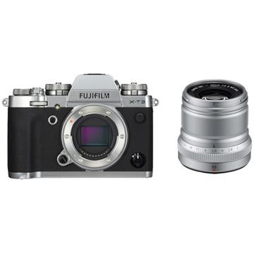 Fujifilm X-T3 Mirrorless Digital Camera (Silver) with XF 50mm f/2 R WR Lens (Silver)