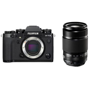 Fujifilm X-T3 Mirrorless Digital Camera (Black) with XF 55-200mm f/3.5-4.8 R LM OIS Lens