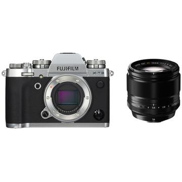 Fujifilm X-T3 Mirrorless Digital Camera (Silver) with XF 56mm f/1.2 R Lens