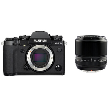 Fujifilm X-T3 Mirrorless Digital Camera (Black) with XF 60mm f/2.4 Macro Lens