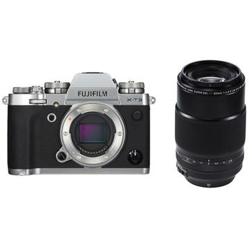 Fujifilm X-T3 Mirrorless Digital Camera (Silver) with XF 80mm f/2.8 R LM OIS WR Macro Lens