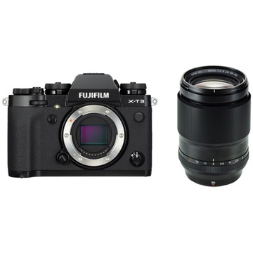 Fujifilm X-T3 Mirrorless Digital Camera (Black) with XF 90mm f/2 R LM WR Lens