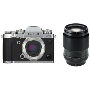 Fujifilm X-T3 Mirrorless Digital Camera (Silver) with XF 90mm f/2 R LM WR Lens