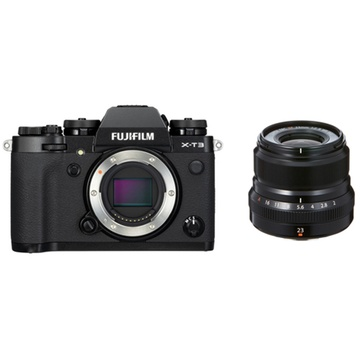 Fujifilm X-T3 Mirrorless Digital Camera (Black) with XF 23mm f/2 R WR Lens (Black)