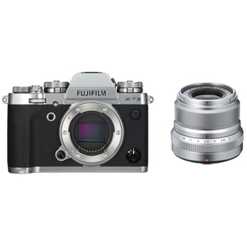 Fujifilm X-T3 Mirrorless Digital Camera (Silver) with XF 23mm f/2 R WR Lens (Silver)
