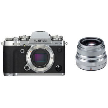 Fujifilm X-T3 Mirrorless Digital Camera (Silver) with XF 35mm f/2 R WR Lens (Silver)
