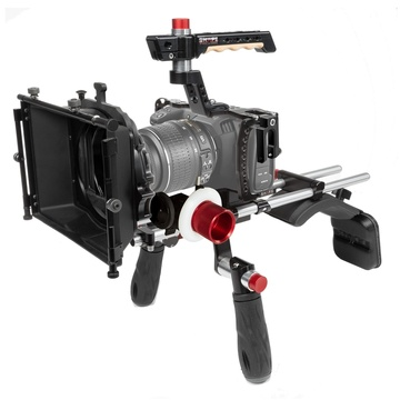 SHAPE Blackmagic Pocket Cinema 4K Shoulder Mount, Matte box, Follow Focus