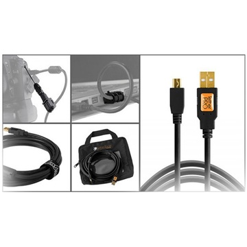 Tether Tools Starter Tethering Kit with USB 2.0 Mini-B 5-Pin Cable (Black)