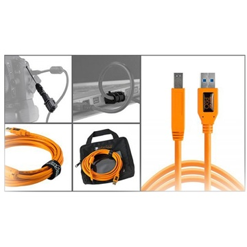 Tether Tools Starter Tethering Kit with USB 3.0 Type-B Cable (Orange)