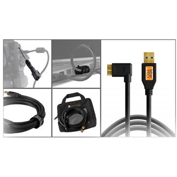 Tether Tools Starter Tethering Kit with USB 3.0 Micro-B Right Angle Cable (Black)