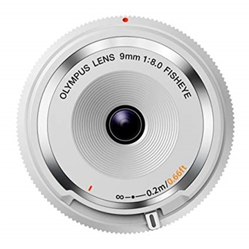 Olympus M.Zuiko Fisheye Body Cap 9mm f/8 Lens (White)