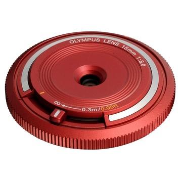 Olympus M.Zuiko Fisheye Body Cap 15mm f/8 Lens (Red)