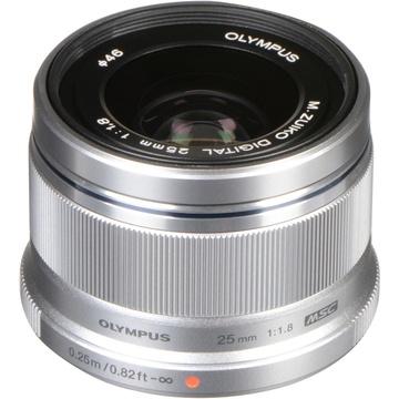 Olympus M.Zuiko 25mm f/1.8 Lens (Silver)