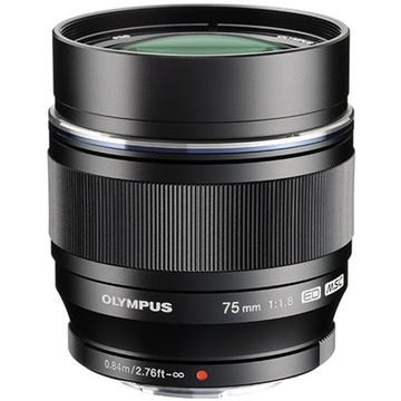 Olympus M.Zuiko 75mm f/1.8 Lens (Black)