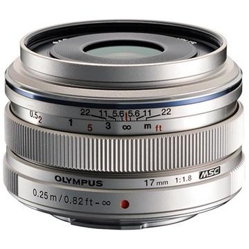 Olympus M. Zuiko 17mm f/1.8 Wide Lens (Silver)
