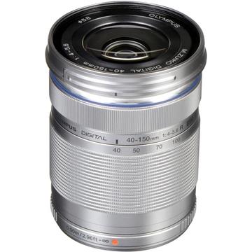Olympus M.Zuiko 40-150mm f/4.0-5.6 R Lens (Silver)