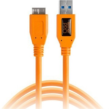 Tether Tools TetherPro USB 3.0 Type-A to Micro-USB Type-B Cable 4.6m (Orange)