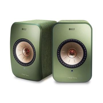 KEF LSX Wireless Mini Monitor Speakers (Green)