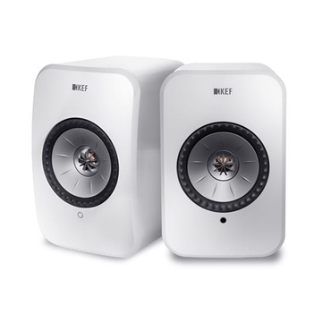 KEF LSX Wireless Mini Monitor Speakers (White)
