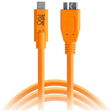 Tether Tools TetherPro USB Type-C Male to Micro-USB 3.0 Type-B Male Cable 4.6m (Orange)