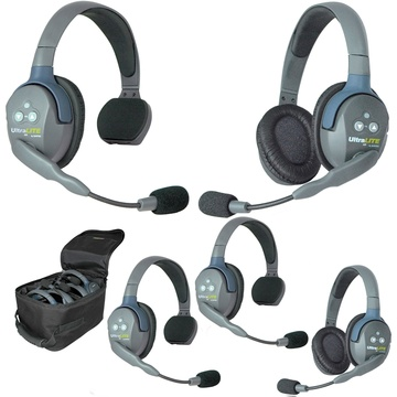 afd4e9c7714 Eartec Ultralite 5 Person System with 3 Single and 2 Double Headsets