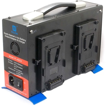 Cinegears 14 VDC Quad-Charger Power Station with Discharger (V-Mount)