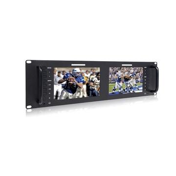 "FeelWorld Dual 7"" Display Monitors, 3-Rack Unit"