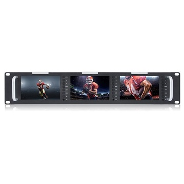 "Feelworld Triple 5"" 2RU Broadcast LCD Rack Mount Monitor"